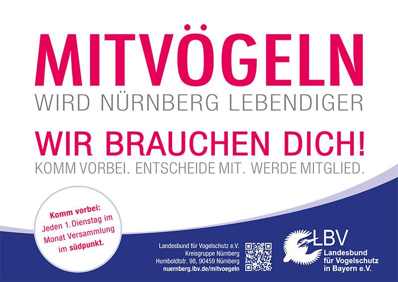 Mit Vögeln wird Nürnberg lebendiger Kampagne -Kampagne