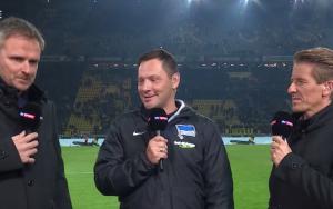Borussia Dortmund - Hertha BSC Berlin: Pal Dardai grinst über die rote Karte von Mor