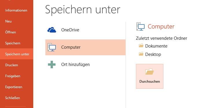 Microsoft Powerpoint: Titel der Präsentation anlegen oder ändern: So gehts! Teil 1: Speichern unter